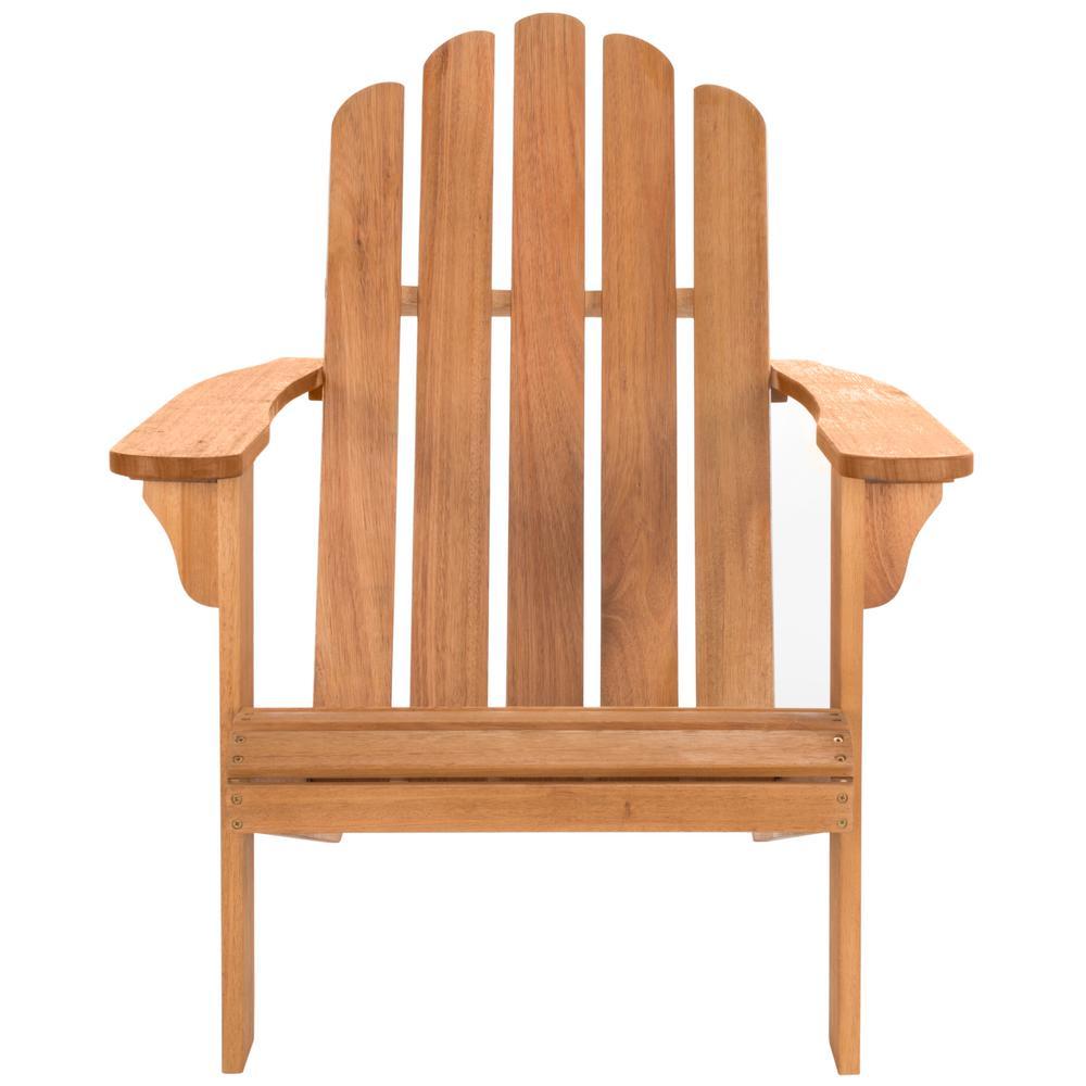 Topher Natural Brown Wood Adirondack Chair