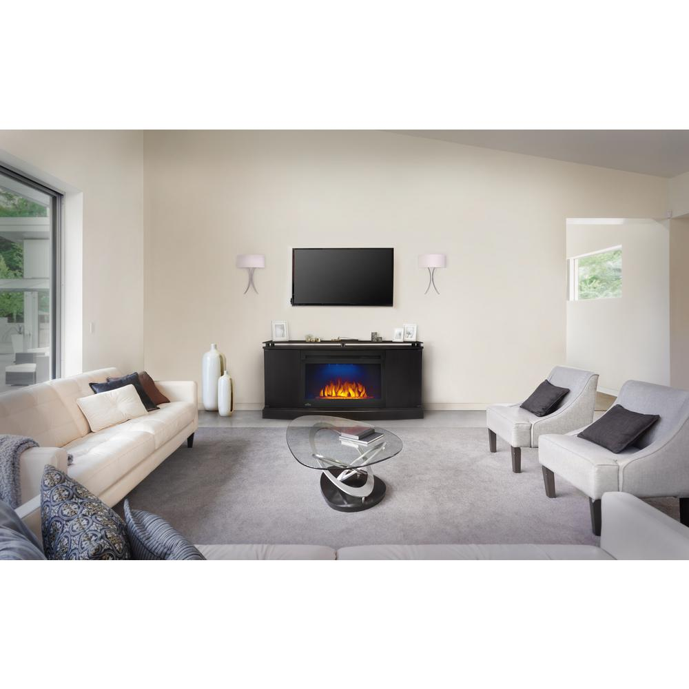 NAPOLEON Anya 27 in. Mantel Package Electric Fireplace in Black (2 ...