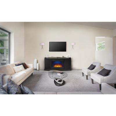 27 in. Anya Mantel Package Electric Fireplace in Black (2-Cartons)
