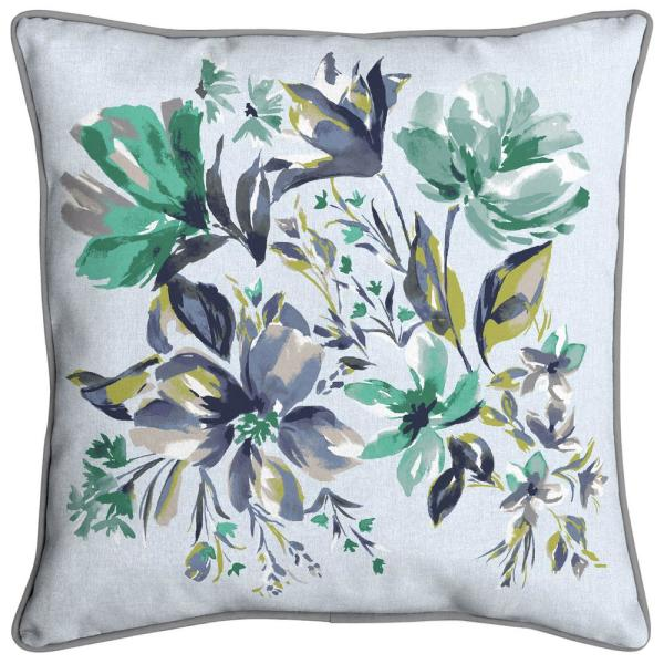 Hampton Bay Amara Floral Welted Outdoor Throw Pillow Tk1v574c 9d4 The Home Depot