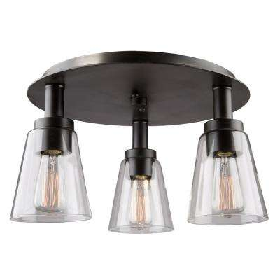 Clarence 3-Light Oil Rubbed Bronze Flush Mount