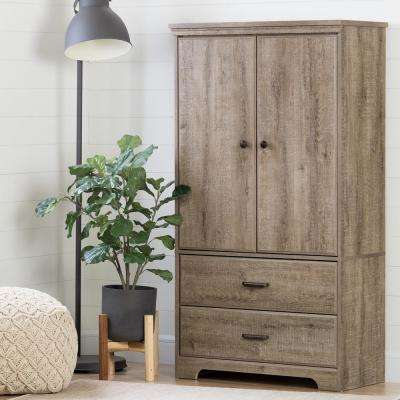 Versa Weathered Oak Armoire