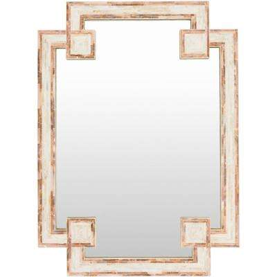 Askew 37.8 in. x 28 in. Mother of Pearl Framed Mirror