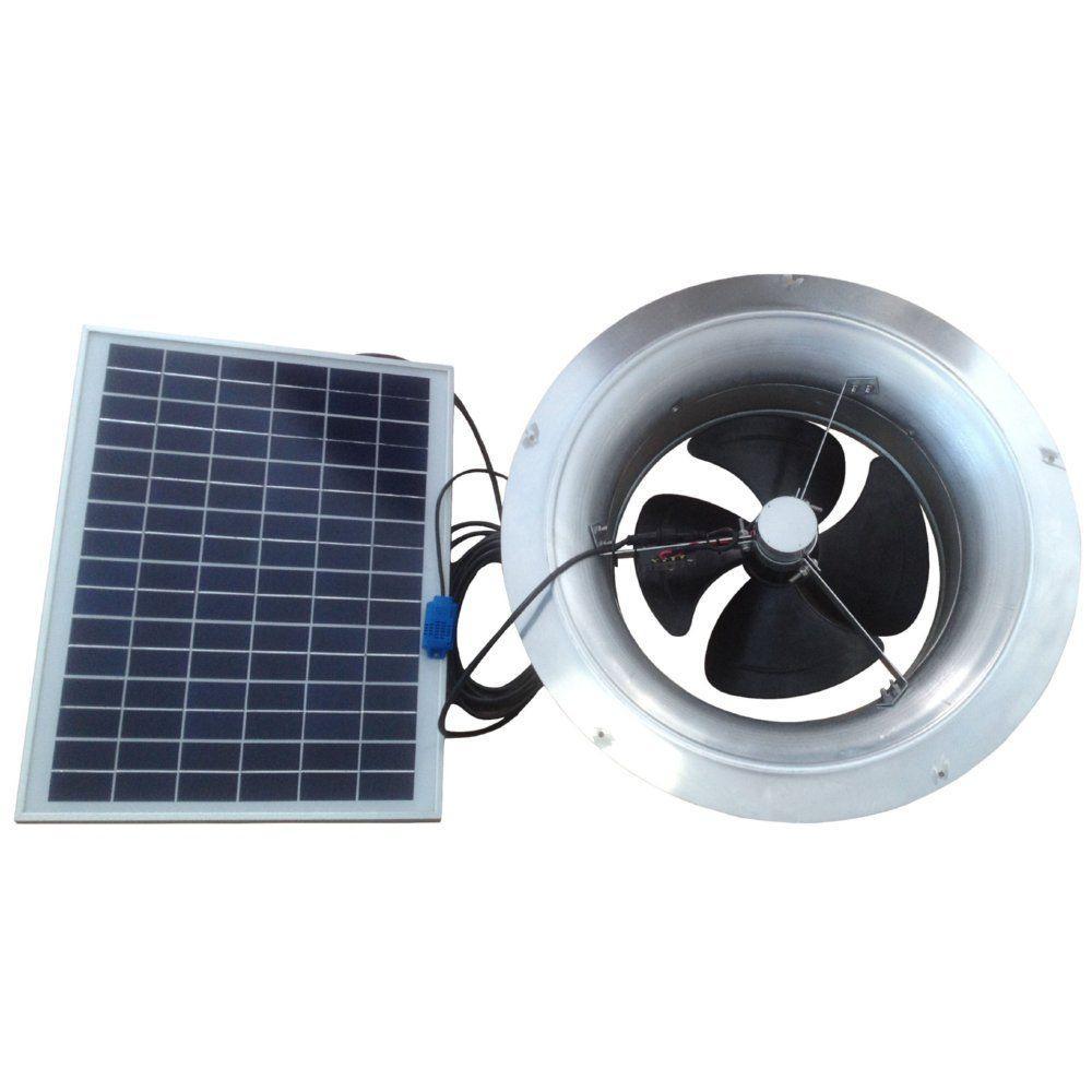 Awesome 20 Watt 1,280 CFM Gable Mount Solar Powered Attic Fan
