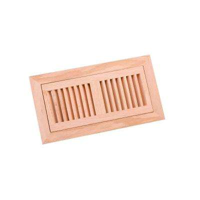 4 in. x 10 in. Wood Red Oak Unfinished Flush Mount Vent Register