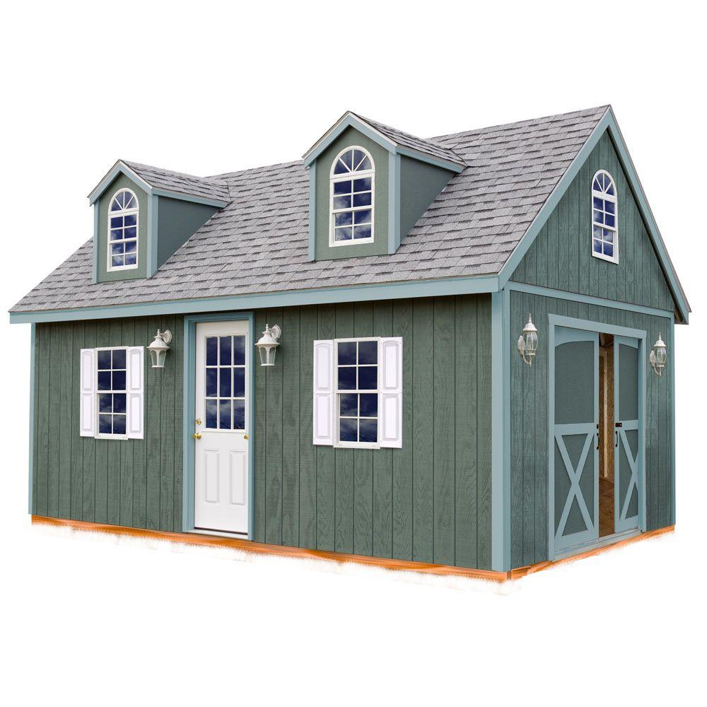 Best Barns Arlington 12 ft. x 16 ft. Wood Storage Shed Kit with Floor