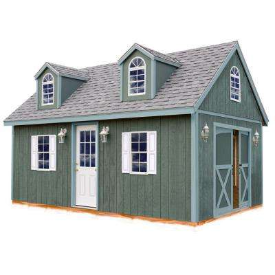 Arlington 12 ft. x 16 ft. Wood Storage Shed Kit