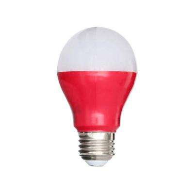 25W Equivalent A19 LED Light Bulb, Red (4-Pack)
