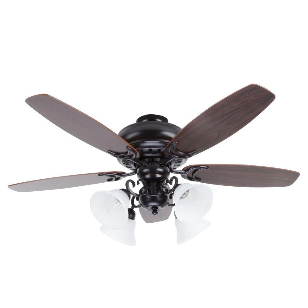 Drake 52 in. 4-Light Oil Rubbed Bronze Ceiling Fan