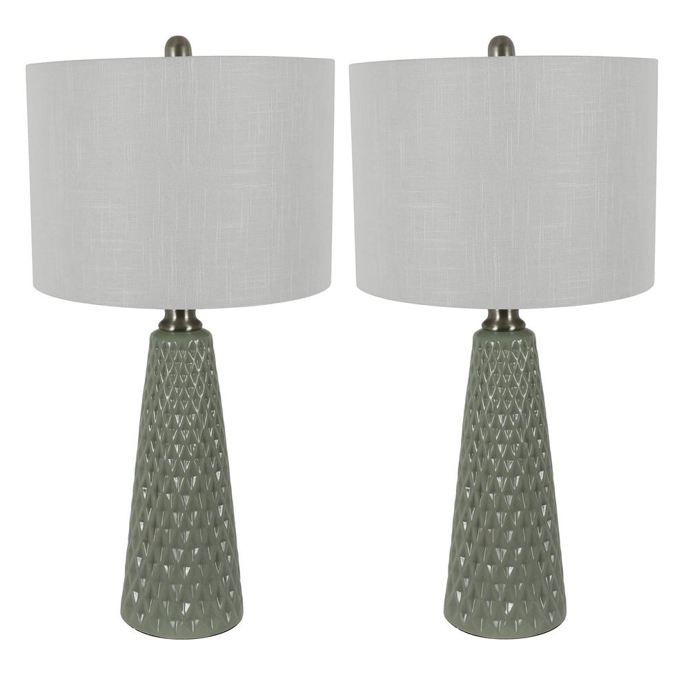 Decor Therapy Jameson 26 5 In Sage Green Textured Ceramic