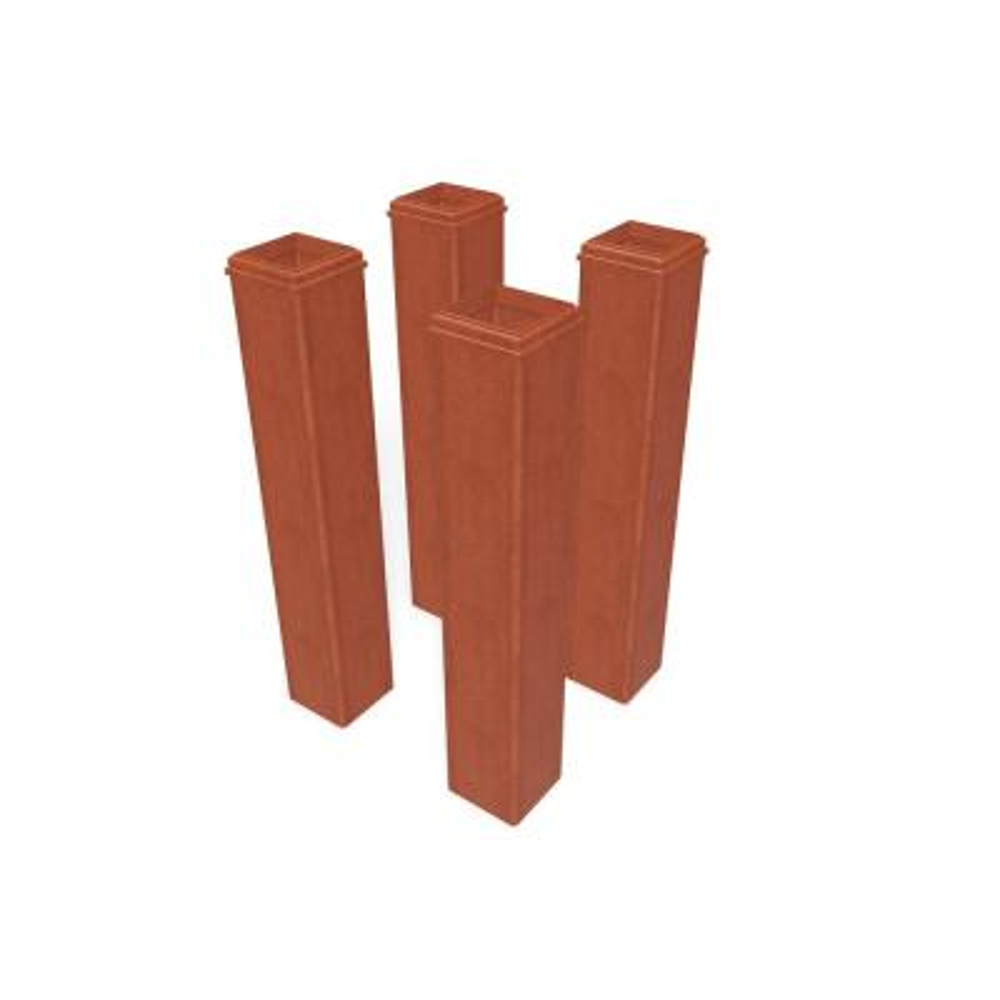 Cedar Composite 36 in. Tall Pergola Base Mold Kit