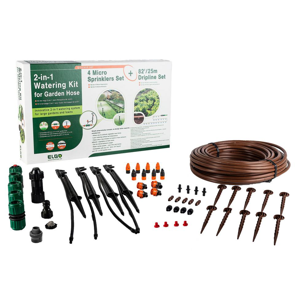 2-in-1 Watering Kit - Micro Sprinklers and Dripline Set
