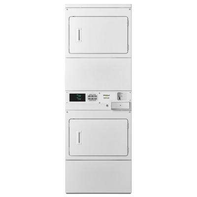 7.4 cu. ft. 240-Volt White Electric Double Stacked Commercial Dryer
