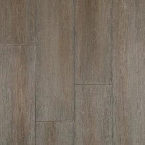 Wire Brushed Strand Woven Cobblestone 3/8 in. T x 5.20 in. W x 36.02 in. L Click Lock Bamboo Flooring(26.00 sq.ft./case)