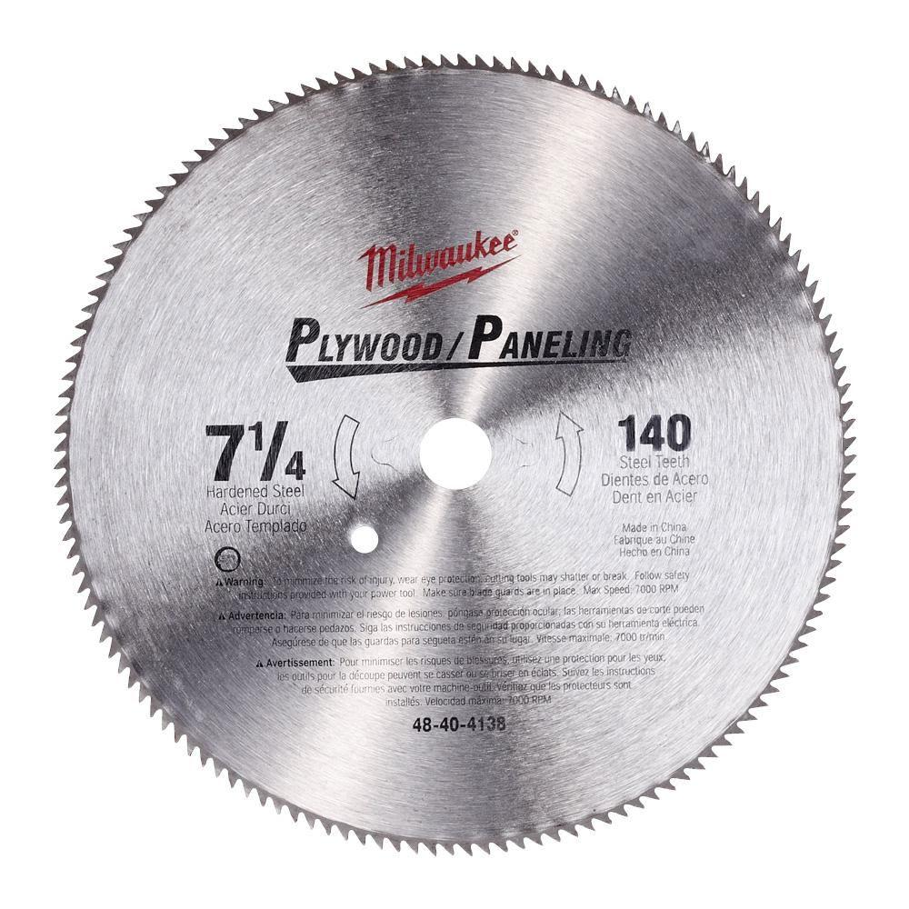 Mk diamond saw blades power tool accessories the home depot 7 14 in x 140 tooth high speed steel circular saw blade greentooth Choice Image