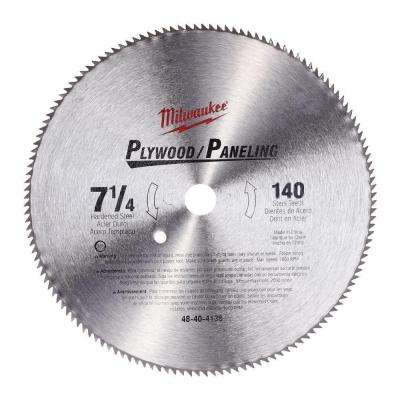 7-1/4 in. x 140 Tooth High Speed Steel Circular Saw Blade