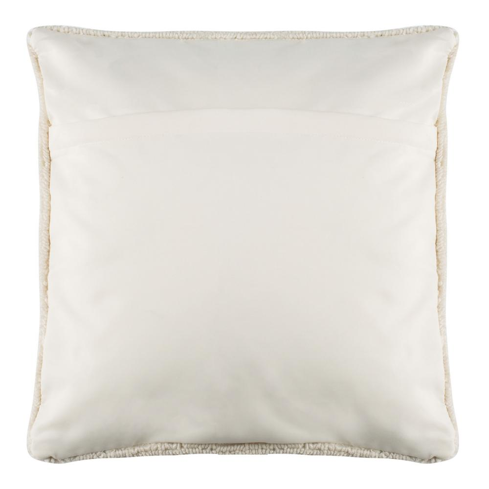 Safavieh Pure Pinele Green White Square Outdoor Throw Pillow