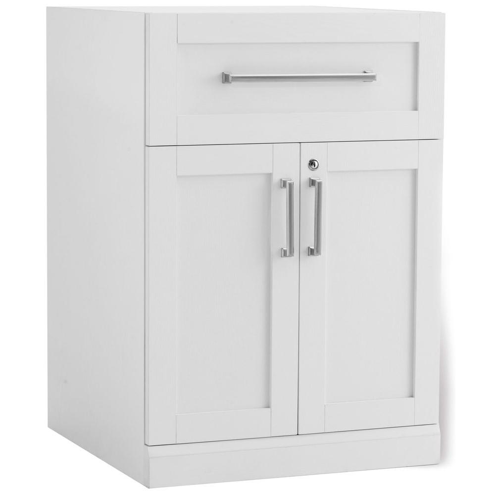 Newage Products White Woodgrain Bar Cabinet 60004 The Home Depot