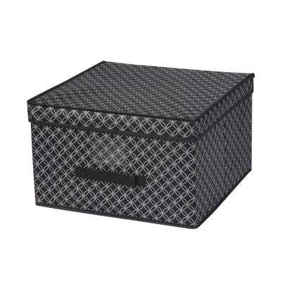 Jumbo Blossom 16 in. x 18 in. Silver 1-Cube Storage Organizer