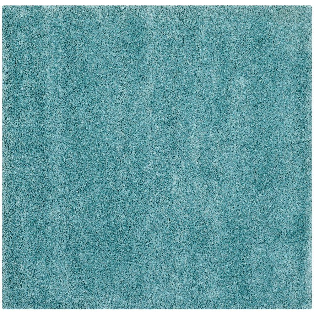 Good Safavieh Milan Shag Aqua Blue 7 Ft. X 7 Ft. Square Area Rug