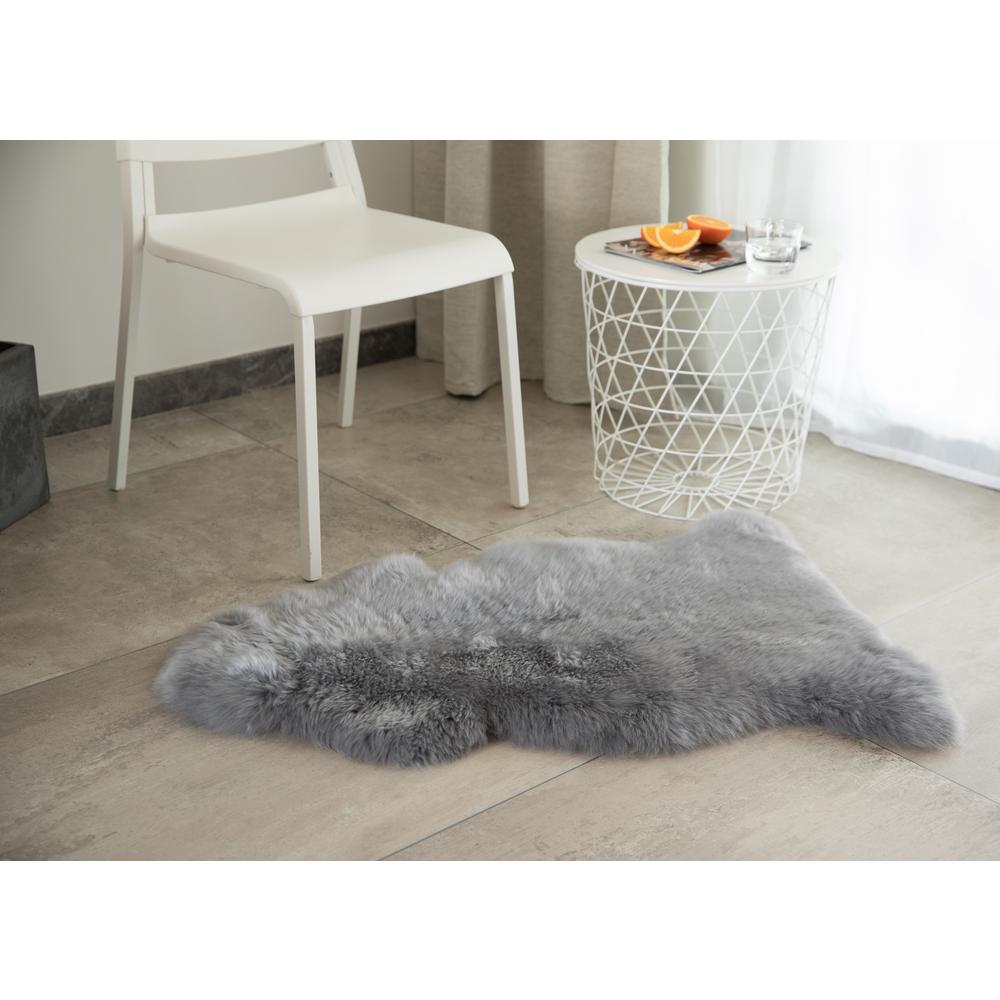 Genuine Australian Lamb Fur Sheepskin Rug Natural Single Pelt Grey