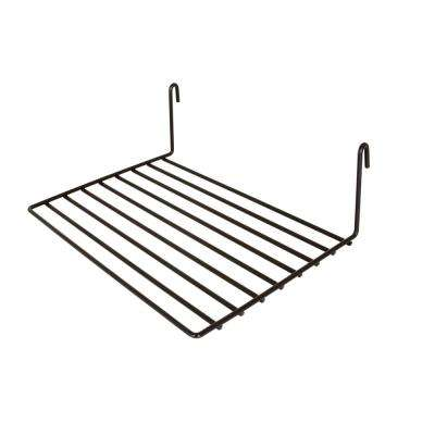 12 in. W x  8 in. D Black Straight Wire Shelf (Pack of 6)