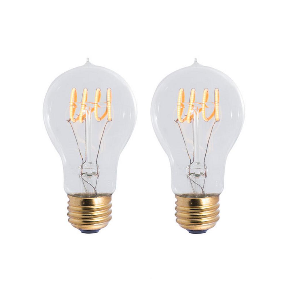 40w Equivalent Soft White Vintage Filament A19 Dimmable: Bulbrite 40W Equivalent Amber Light A19 Dimmable LED