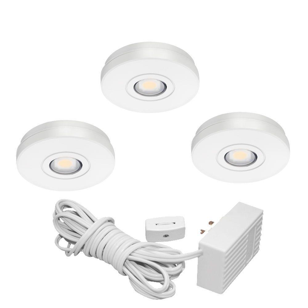 White Under LED Under Cabinet Solo Task Light Kit