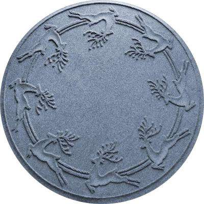 Aqua Shield Bluestone 35 in. Round Reindeer Run Under the Tree Mat