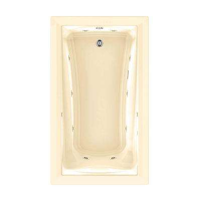 Green Tea EcoSilent 72 in. x 42 in. Whirlpool and Air Bath Tub with Chromotherapy in Bone