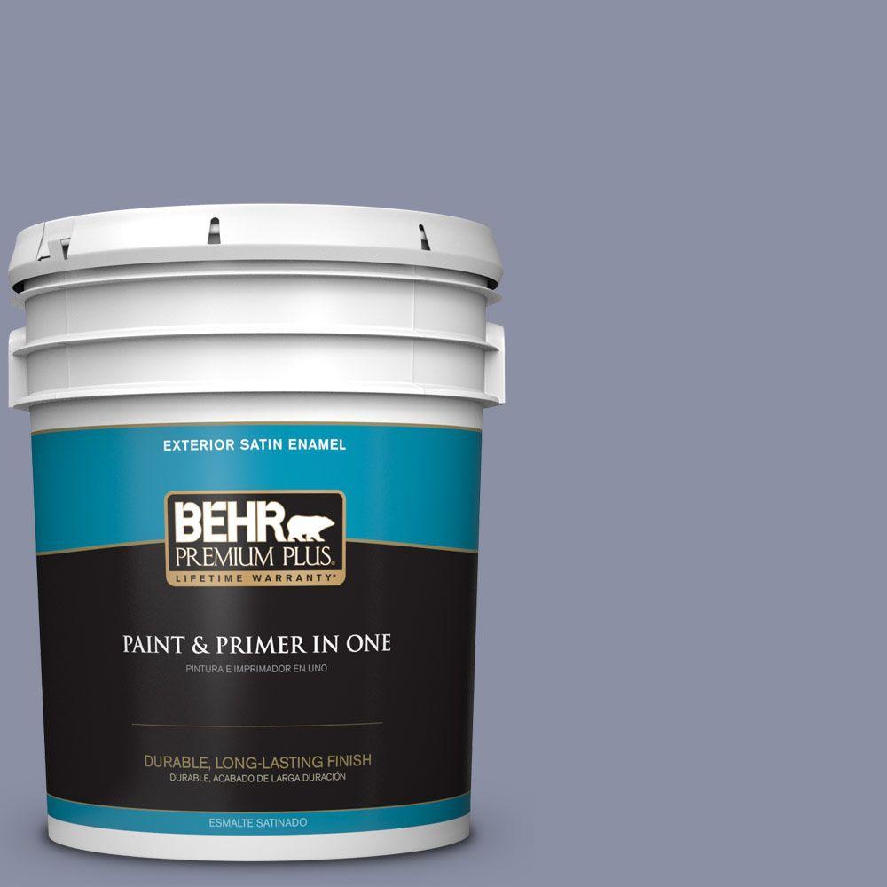 BEHR Premium Plus 5-gal. #S550-4 Camelot Satin Enamel Exterior Paint
