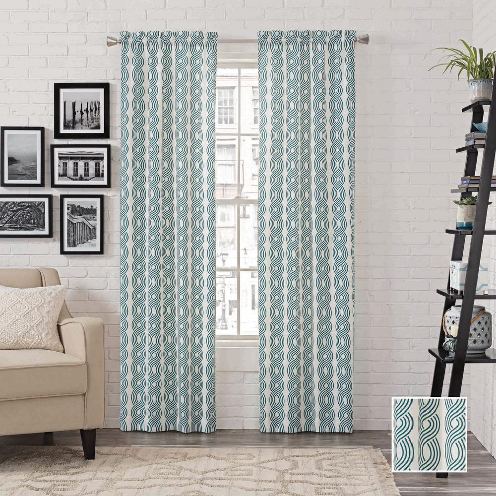 Pairs to Go Zaya 84 in. L Polyester Rod Pocket Drapery Panel Pair in ...