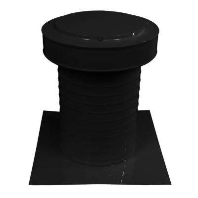 9 in. Dia Keepa Vent an Aluminum Static Roof Vent for Flat Roofs in Black
