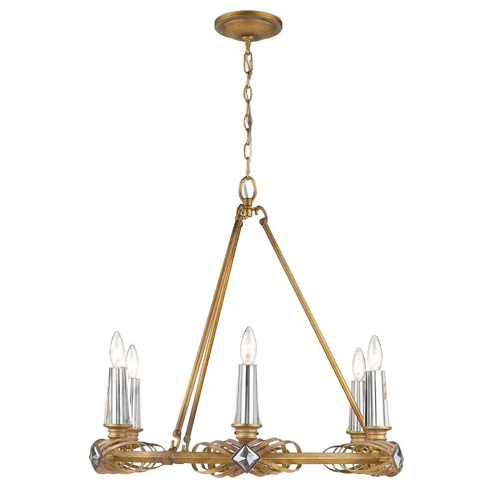 Signet 6-Light Royal Gold Chandelier Light