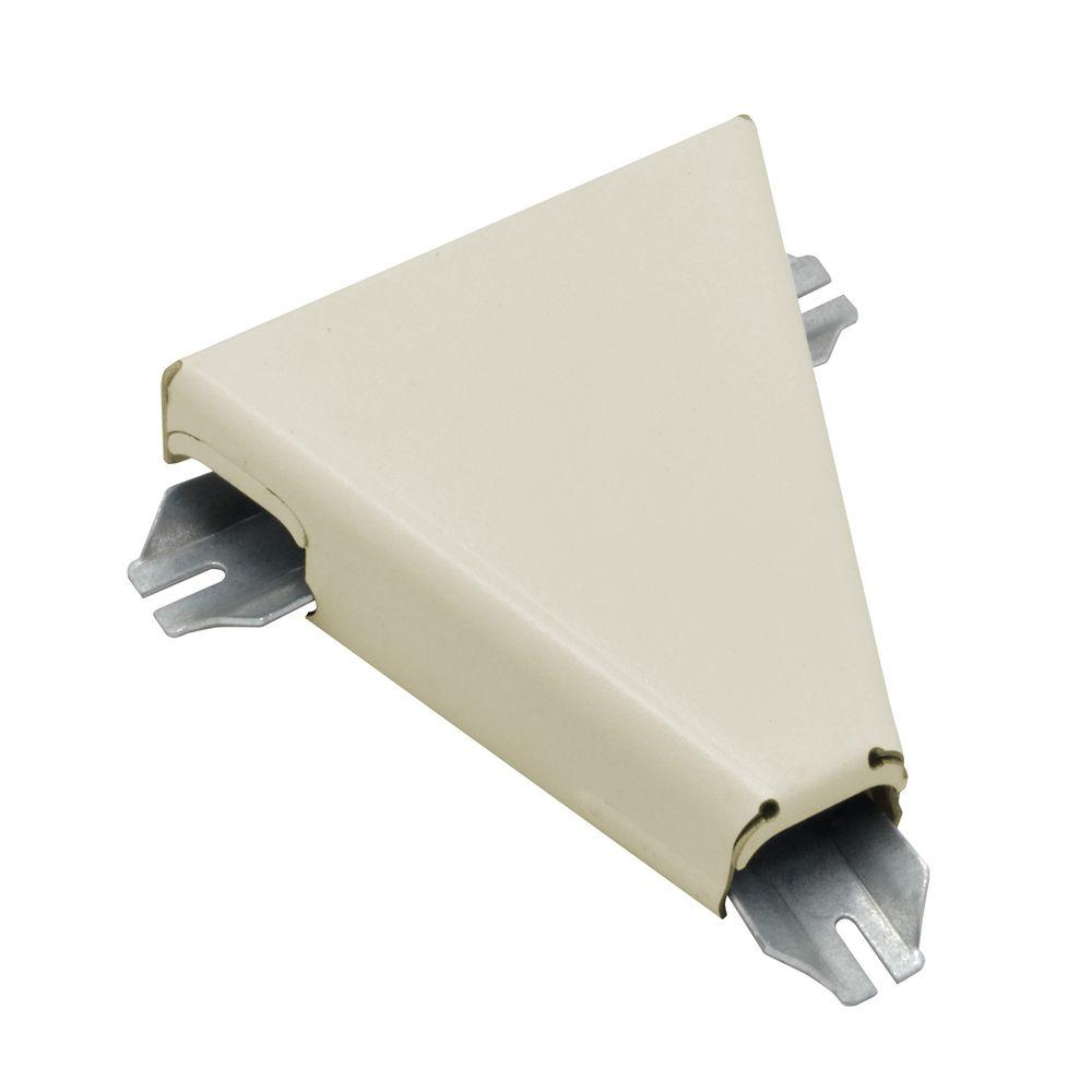 500 Series Metal Surface Raceway T-Fitting, Ivory