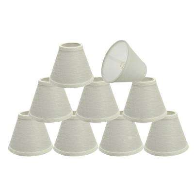 6 in. x 5 in. Pearl Linen Hardback Empire Lamp Shade (9-Pack)