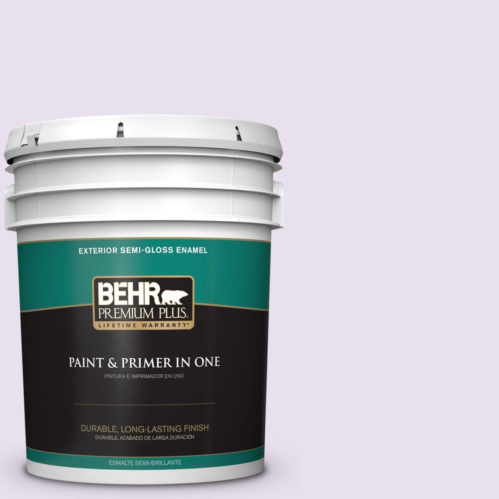 BEHR Premium Plus 5-gal. #660C-1 Bubble Bath Semi-Gloss Enamel Exterior Paint
