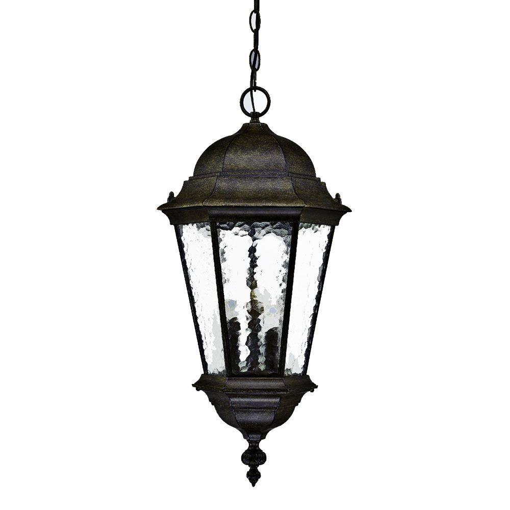 Acclaim Lighting Telfair Collection 3 Light Black Coral Outdoor Hanging Fixture