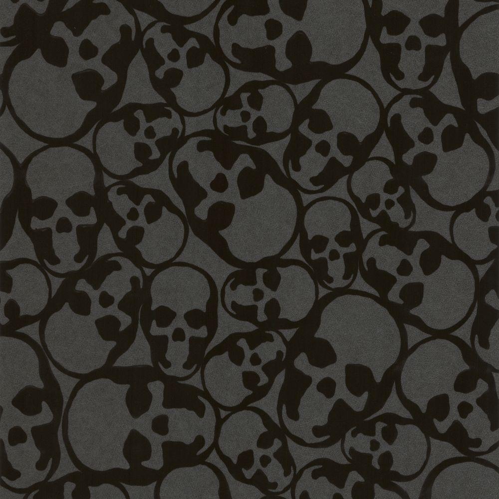Graham Brown Skulls Black Removable Wallpaper 19911 The Home Depot