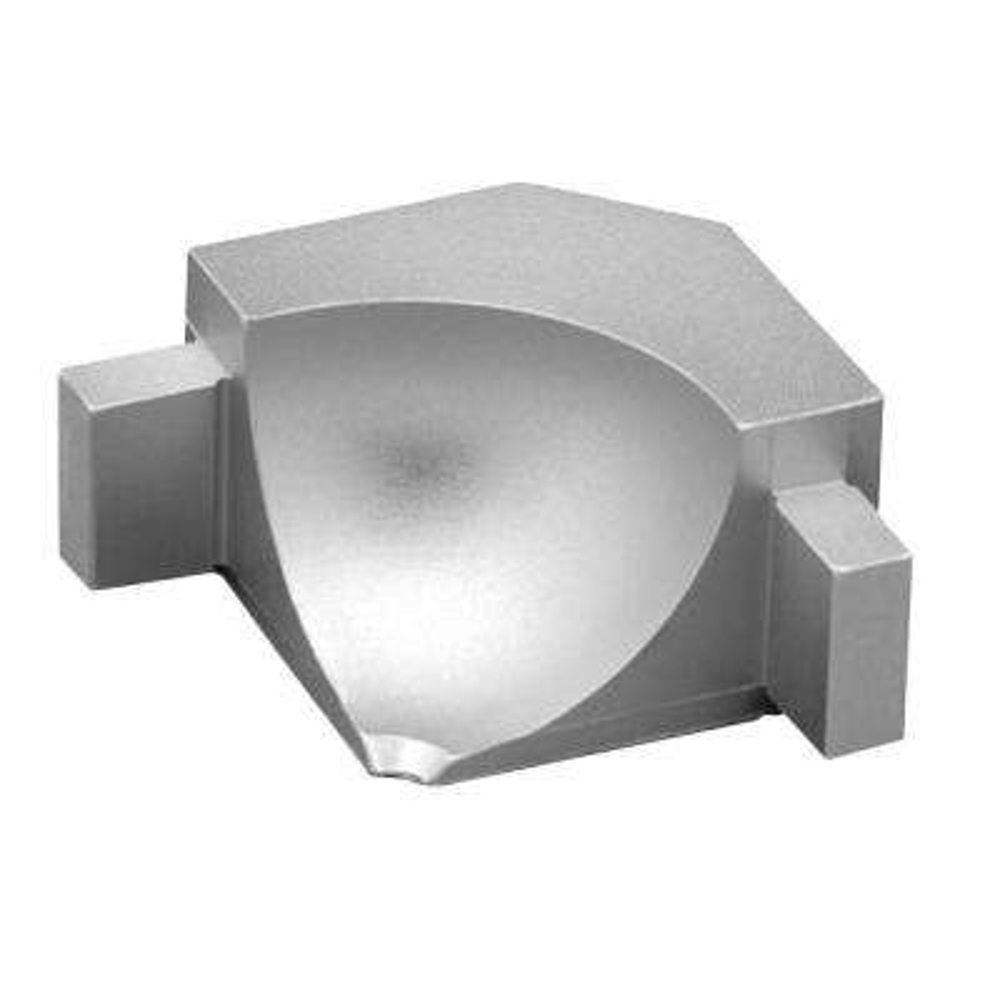 Dilex-AHKA Satin Anodized Aluminum 9/16 in. x 1 in. Metal 90 Degree Inside Corner