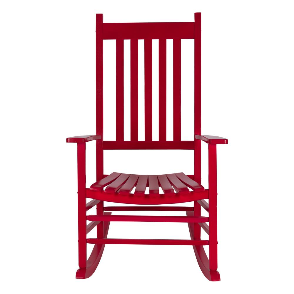 Surprising Shine Company Vermont 45 25 In Tall Red Chili Pepper Patio Wood Porch Rocker Pabps2019 Chair Design Images Pabps2019Com