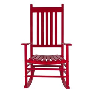 Vermont 45.25 in. Tall Red Chili Pepper Patio Wood Porch Rocker