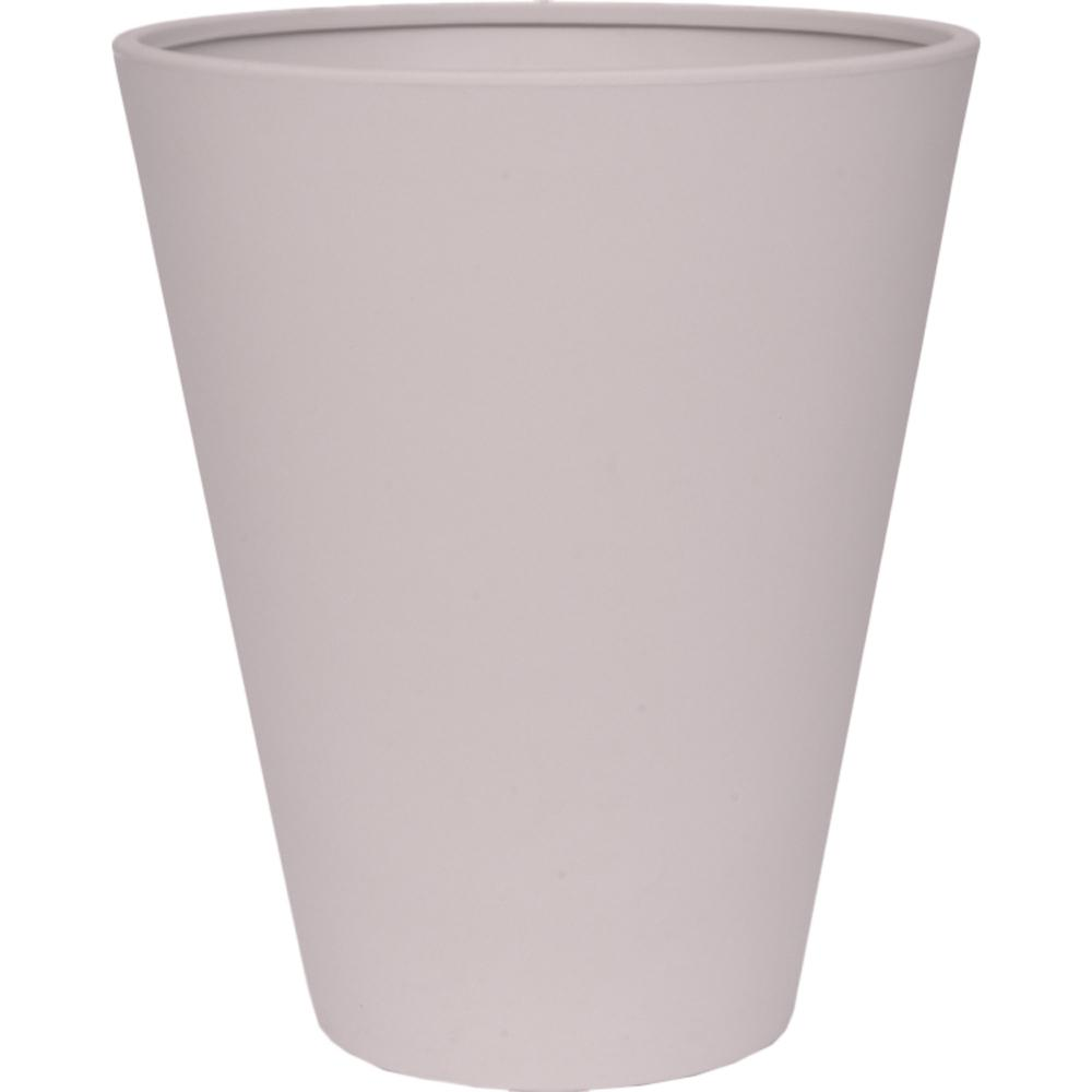Toscana 16 in. Gray Plastic Tall Round Patio Planter