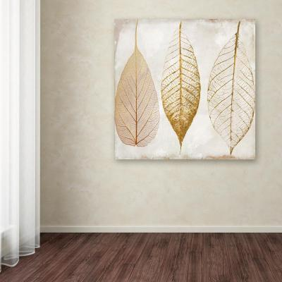 "18 in. x 18 in. ""Fallen Gold II"" by Color Bakery Printed Canvas Wall Art"