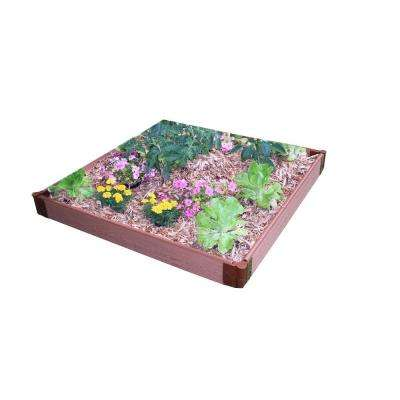 One Inch Series 4 ft. x 4 ft. x 5.5 in. Composite Raised Garden Bed Kit