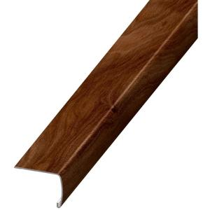Home Decorators Collection Java Hickory 7 Mm Thick X 2 In Wide X 94 In Length Coordinating Vinyl Stair Nose Molding Ve 60199 The Home Depot