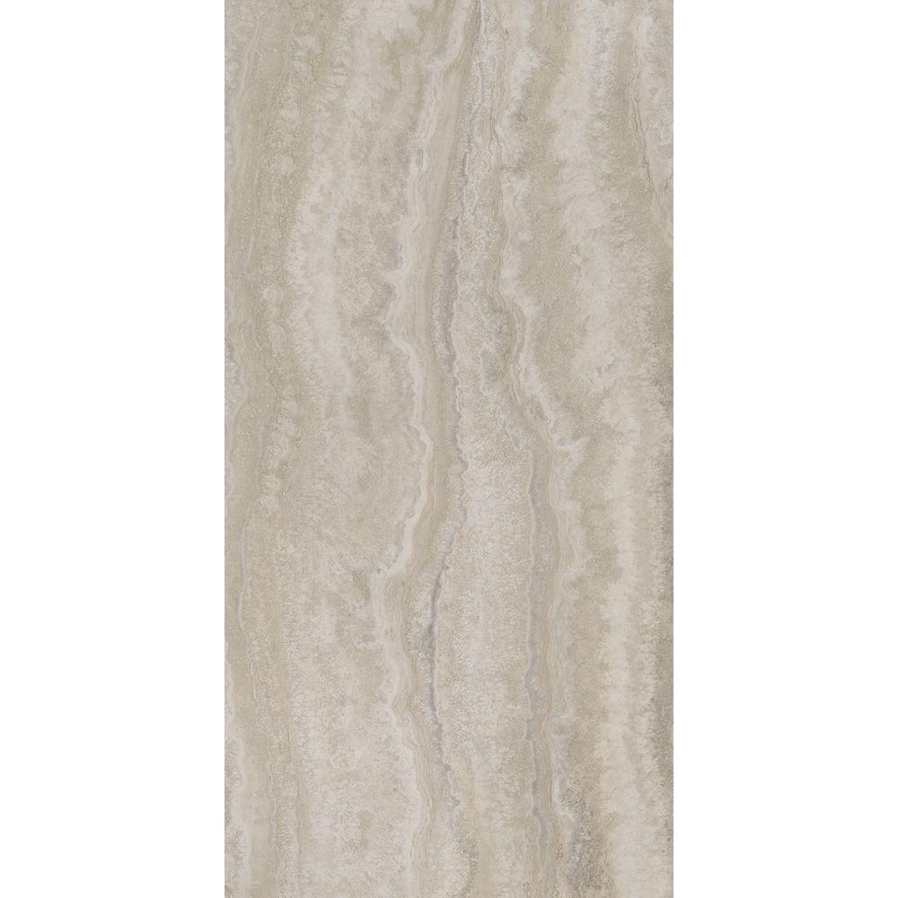 Trafficmaster Allure 12 In X 24 In Grey Travertine