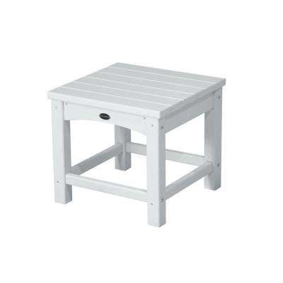 Club 18 in. White Patio Side Table