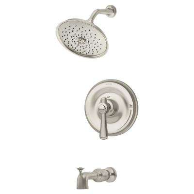 Degas 1-Handle Wall Mounted Tub and Shower Trim Kit in Satin Nickel (Valve Not Included)