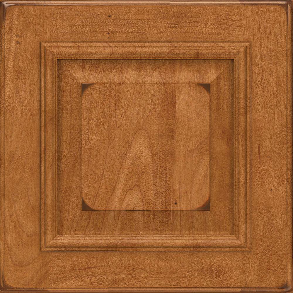 15x15 in. Cabinet Door Sample in Gavin Brook Maple in Burnished Praline